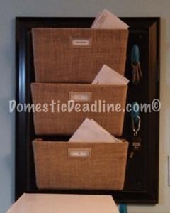 DIY Custom Wall Mounted Mail Sorter