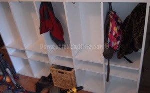 DIY custom entryway mudroom organized #diy #mudroom #entryway #organized #domesticdeadline