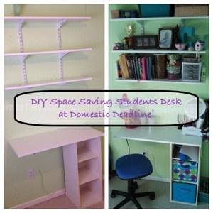 DIY Space Saving Student Desk