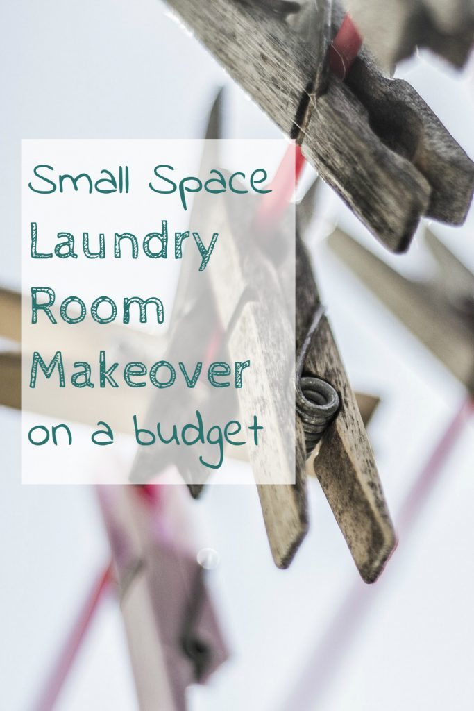 cost effective laundry room make over for a small space