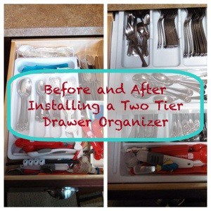 How to install a two tier drawer organizer