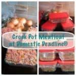 Crock Pot Meatloaf with Veggies
