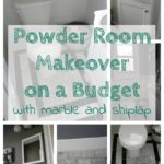 Budget Friendly Powder Room Makeover