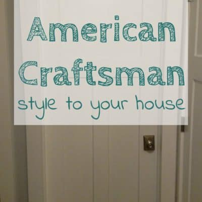 Craftsman Style Doors and Trim – DIY