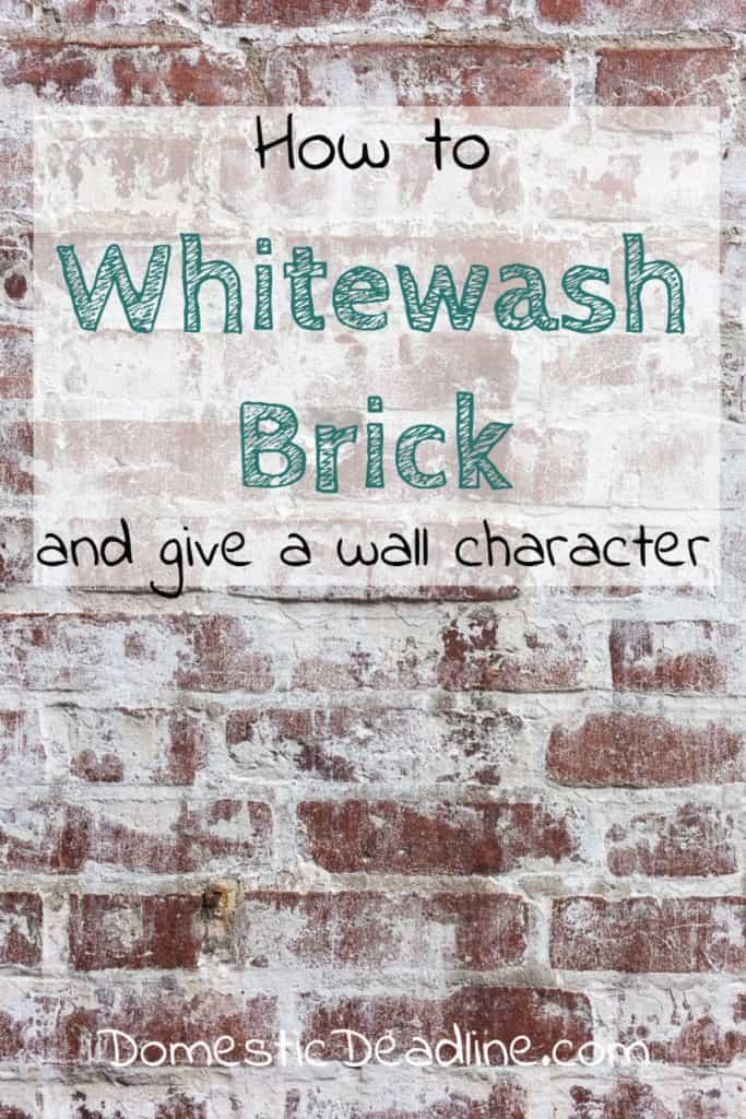 Farmhouse Inspired Whitewash Brick Fireplace Wall