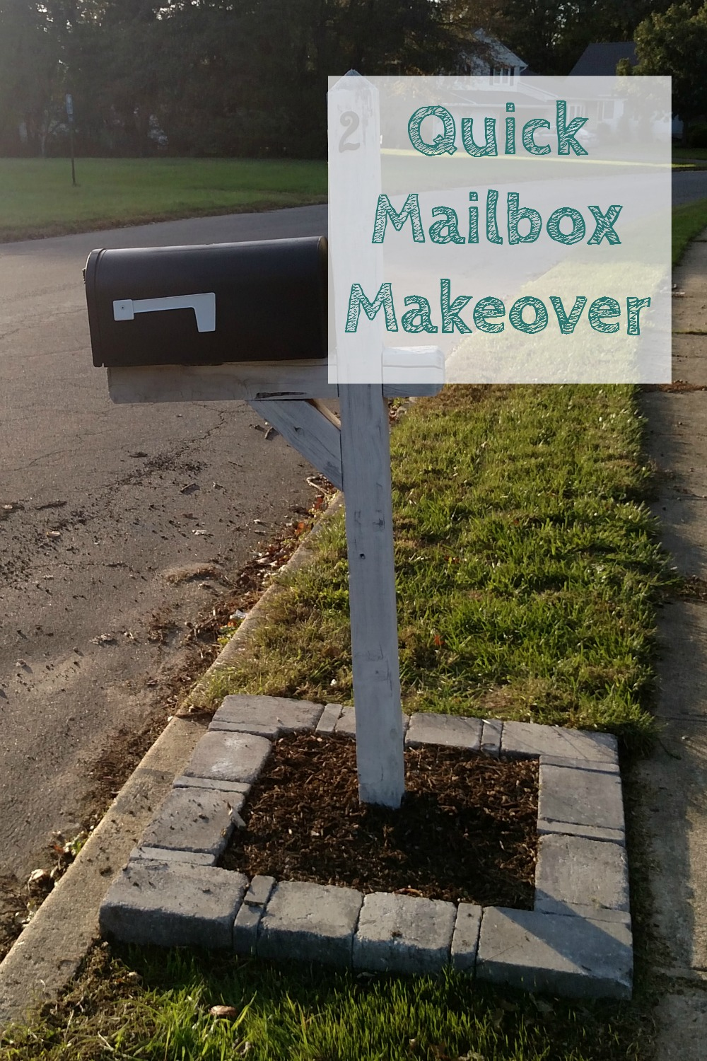 a quick and easy mailbox makeover for free