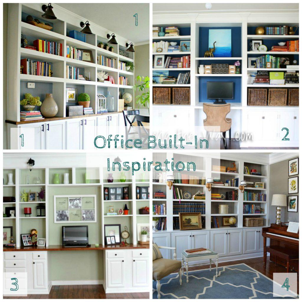 Custom Built Ins Office DIY