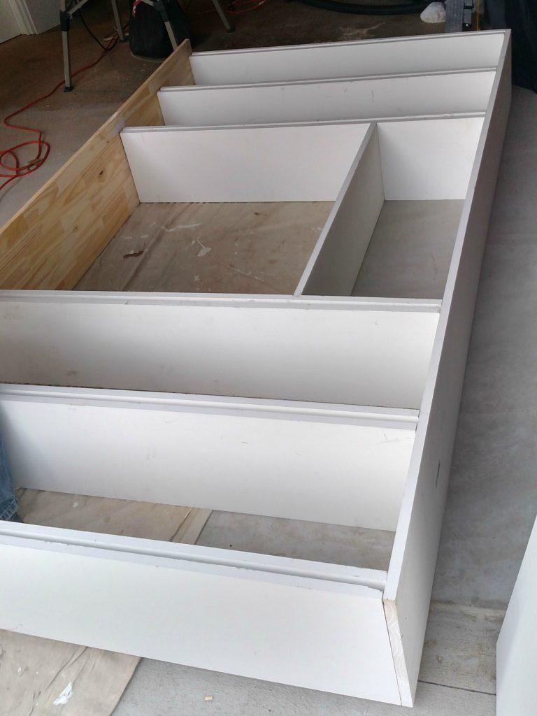 custom built ins diy office project