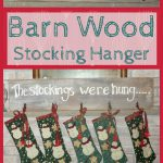 Barn Wood Stocking Hanger