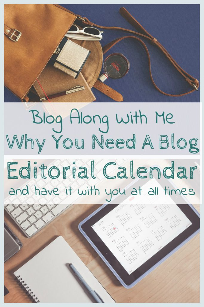Blog along with me Editorial Calendar