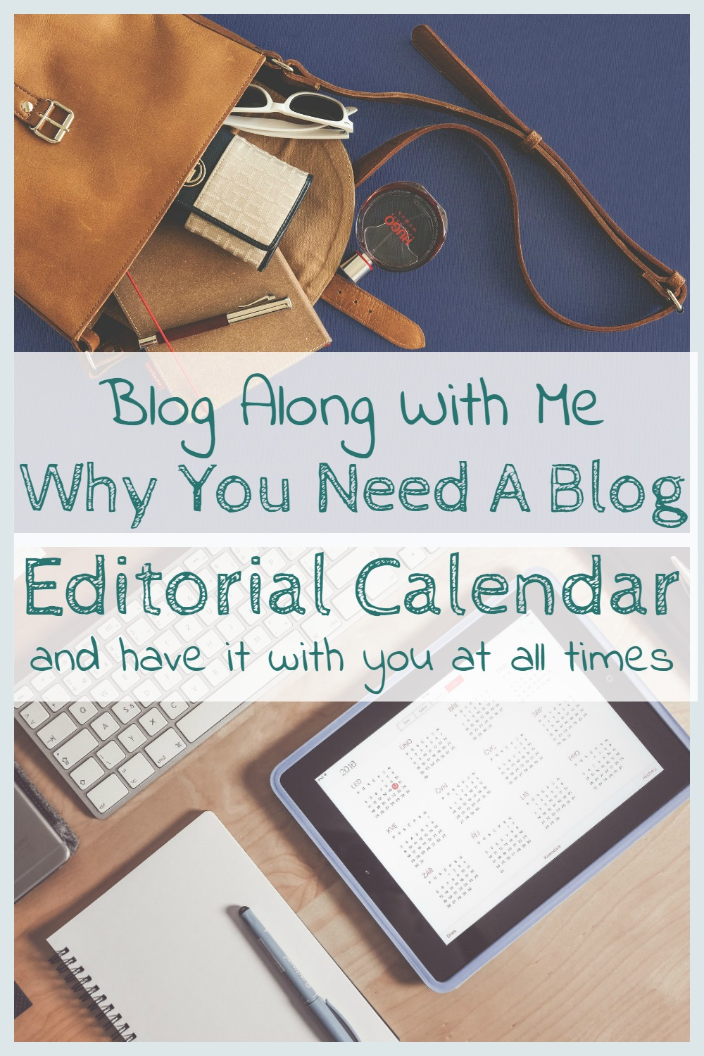 Blog along with me Editorial Calendar