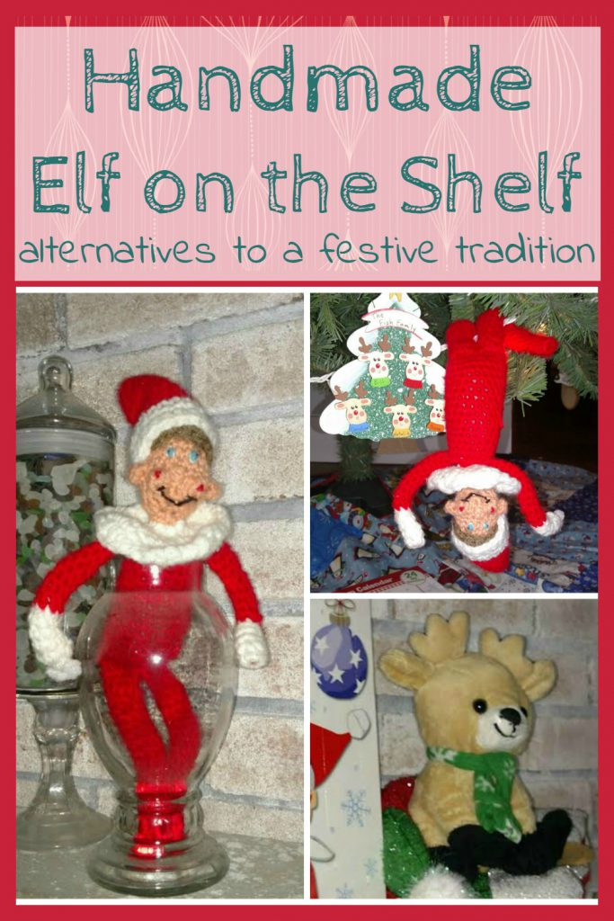 Handmade crochet elf on the shelf