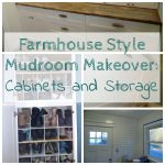 Farmhouse Mudroom Makeover: Cabinets and Storage