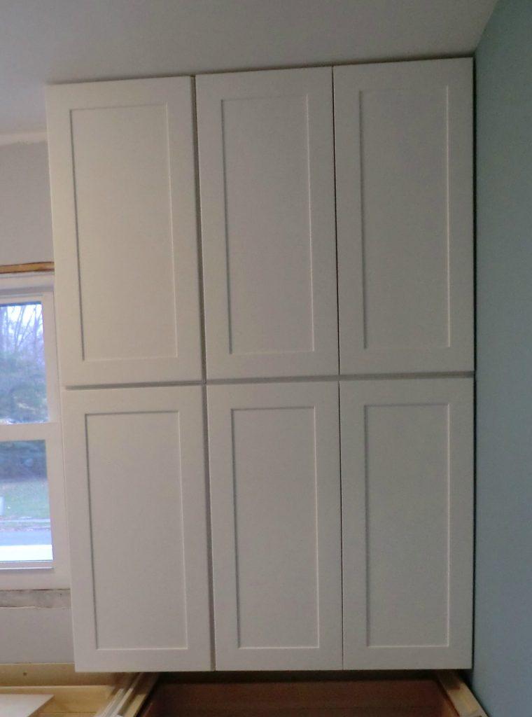 Farmhouse Mudroom Makeover Cabinets Storage