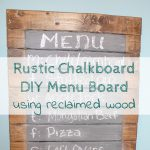 Rustic Chalkboard Menu Board