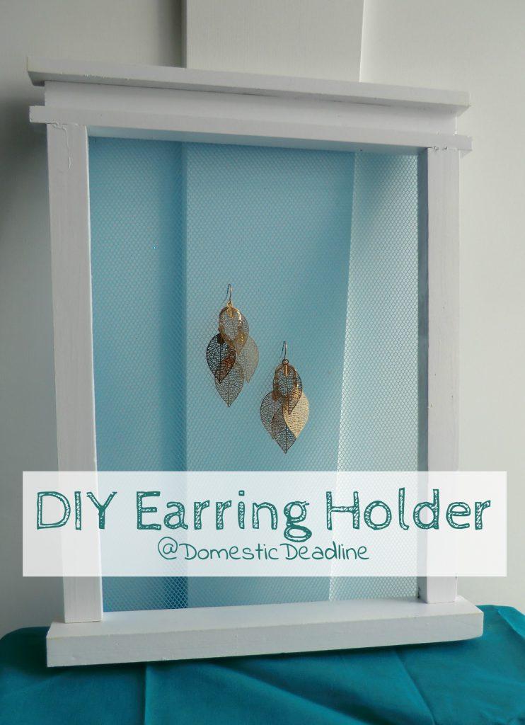window screen earring holder
