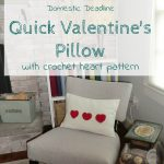 Quick Valentine's Pillow