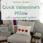 Quick Valentine's Pillow