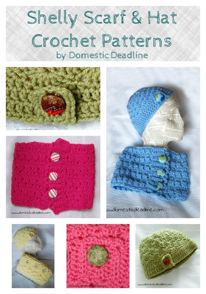 Shelly Scarf and Hat Crochet Patterns
