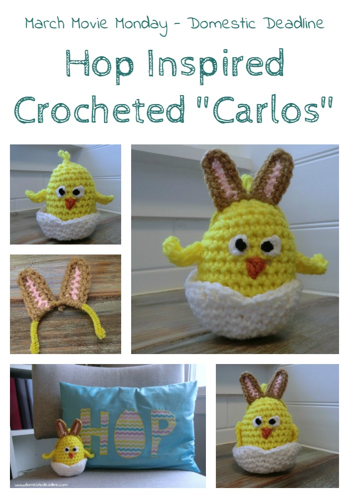 Crocheted Easter Chick Carlos from the movie Hop