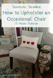 How to Upholster an Occasional Chair - A DIY Photo Tutorial - Part 1