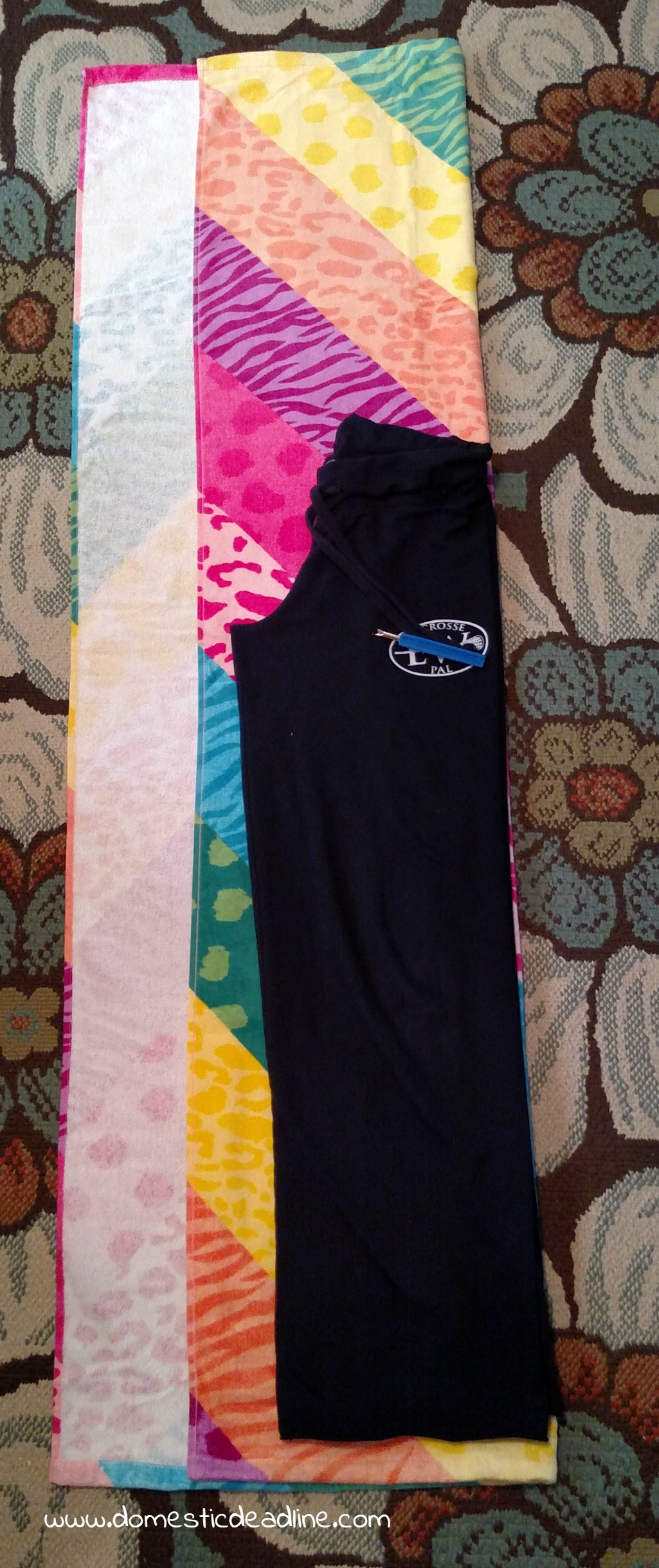 DIY Towel Pants - a great cover-up for the beach or pool
