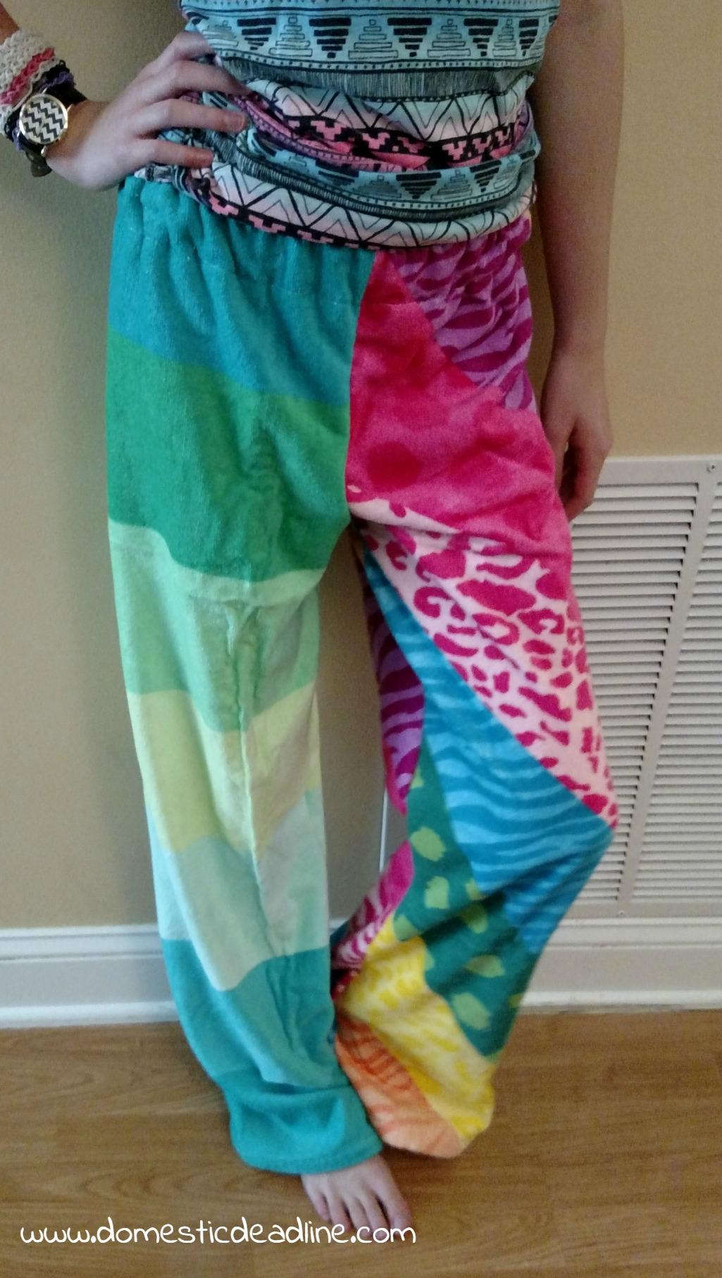 DIY Towel Pants