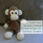 Monkey Amigurumi – April Craft Room Destash Challenge