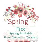 Spring is in the Air – And a FREE Printable