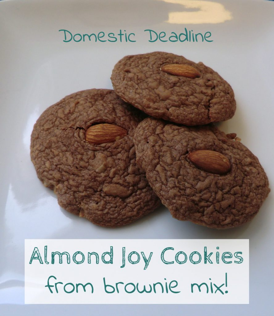 Almond Joy Cookies From a Brownie Mix - Domestic Deadline