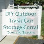 DIY Outdoor Trash Can Storage