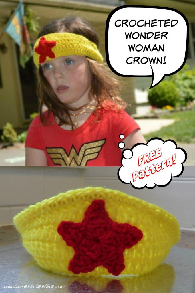 Wonder Woman Crochet Crown - Free Pattern - Domestic Deadline
