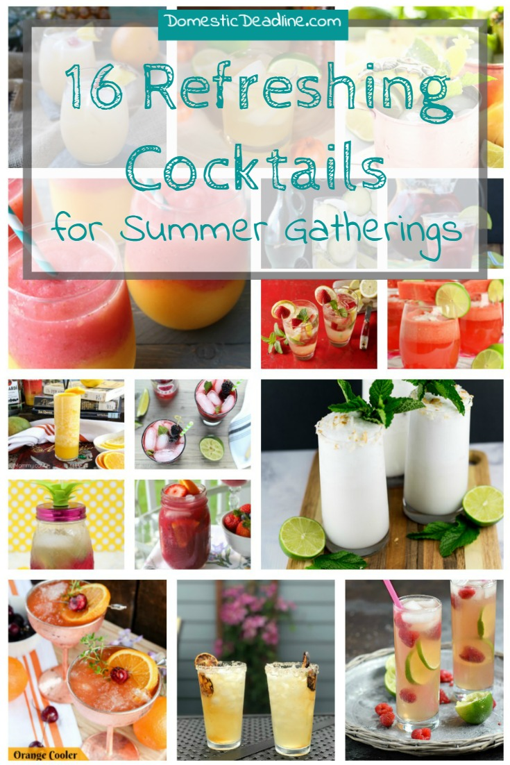 16 Refreshing Cocktails for Summer Gatherings from Domestic Deadline