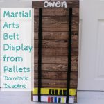 Martial Arts Belt Display from Pallets