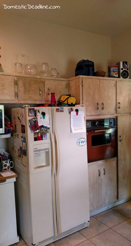 DIY Built-In Fridge Freezer Budget Friendly - Domestic Deadline