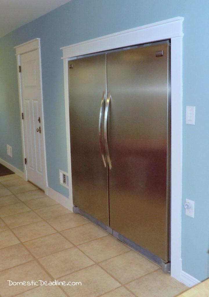 Diy Built-in Fridge Freezer Budget Friendly