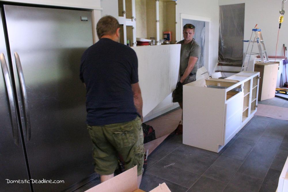 Fixer Upper Farmhouse Kitchen Quartz Counter tops - Domestic Deadline