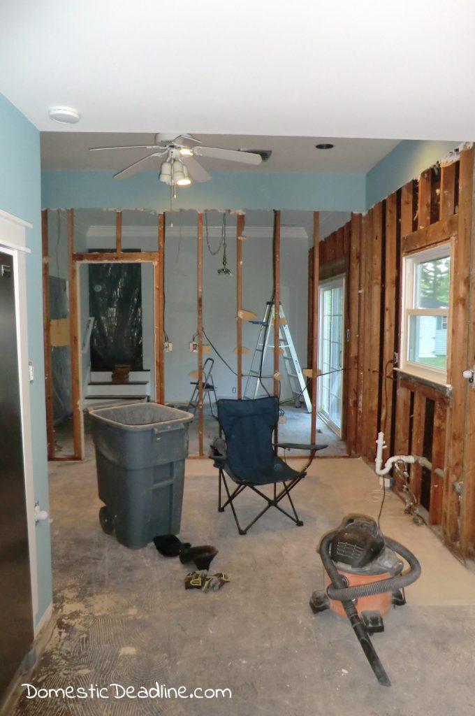 Demo day open floor plan kitchen - Domestic Deadline