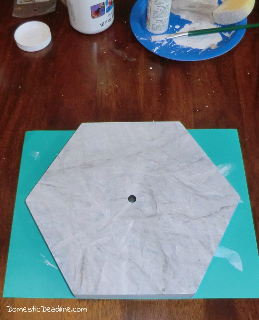 DIY Marble Hexagon Clock Home Made Luxe review Domestic Deadline