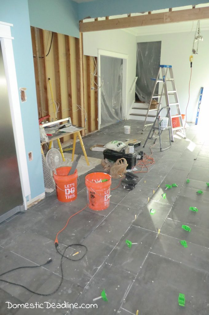 Tiling Kitchen Floors with a Large Pattern - Domestic Deadline
