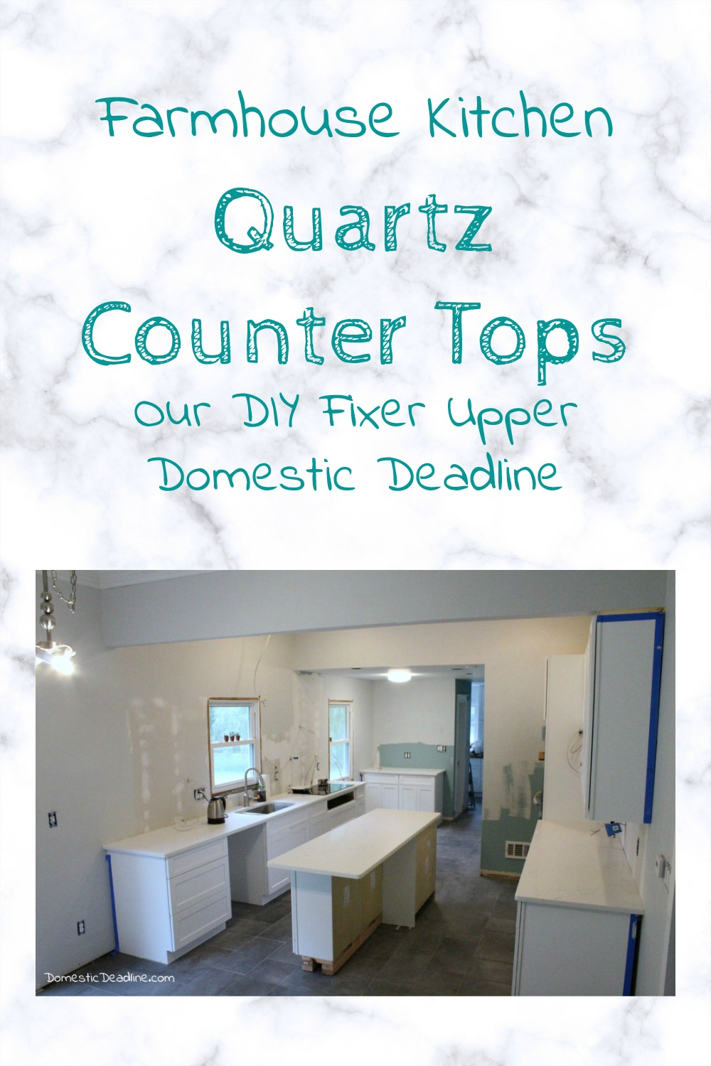 Fixer Upper Farmhouse Kitchen Quartz Counter Tops Domestic Deadline