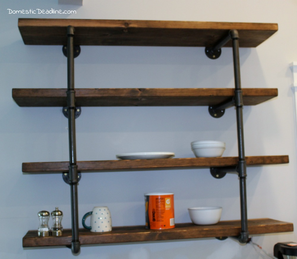 Diy Industrial Shelving Farmhouse Kitchen Fixer Upper Domestic