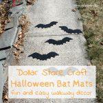 Dollar Store Craft – Halloween Bat Door Mats