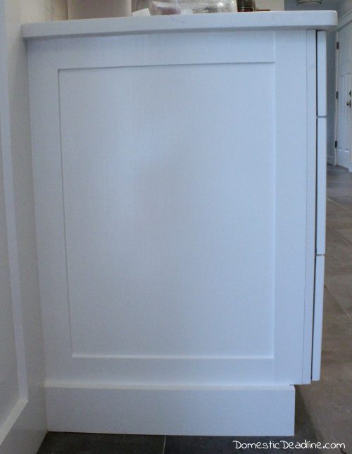 Great DIY End Panels   Cost Effective Solution To Customize Kitchen Cabinets For  My Farmhouse Fixer Upper