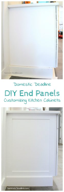 DIY End Panels   Cost Effective Solution To Customize Kitchen Cabinets For  My Farmhouse Fixer Upper