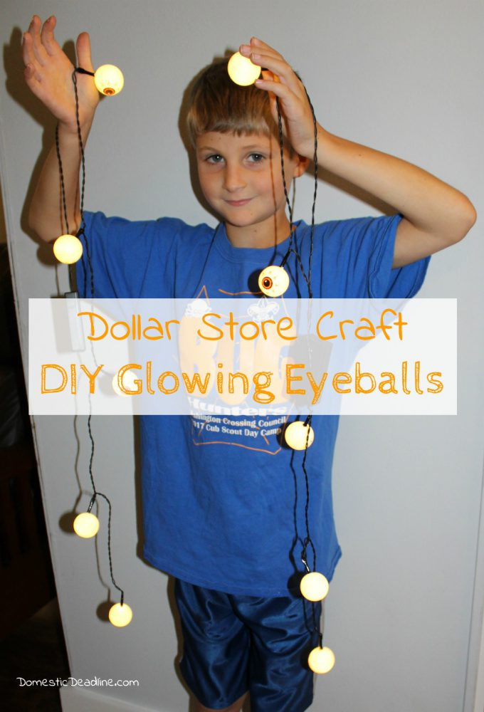 Check out lots of Dollar Store Halloween Crafts from a variety of different bloggers. Great craft ideas to get you ready for Halloween. - Domestic Deadline