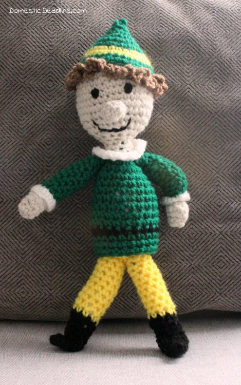 THE ELF ON THE SHELF~Crochet handmade tiny scarf and hat by ... | 750x469