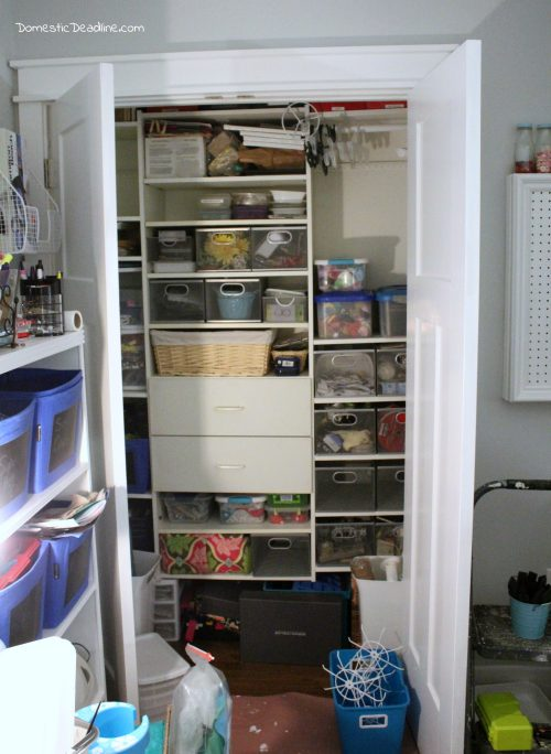 Organizing my craft room, custom craft paint storage cabinet and more - Domestic Deadline