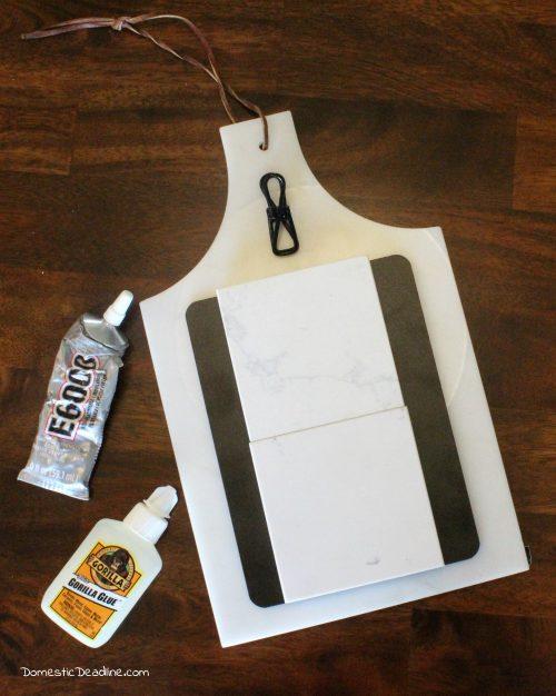 Turn a Cutting Board into a Recipe Holder with Chalkboard - Domestic Deadline