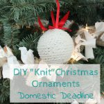 "DIY ""Knit"" Christmas Ornaments"